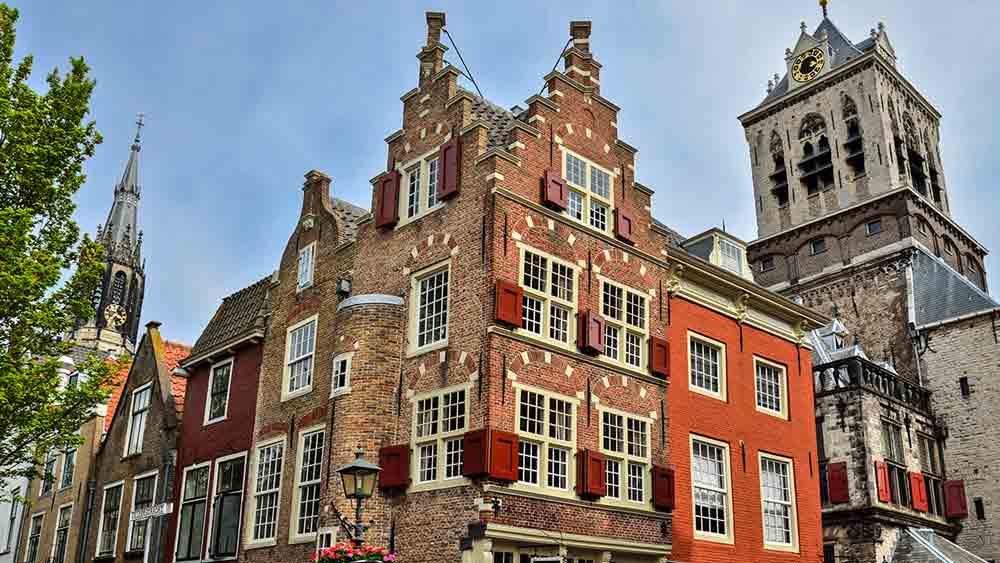 Dutch Architecture in Delft, Holland