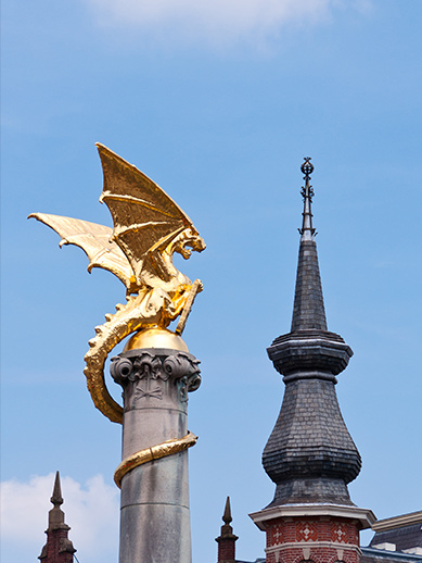 Dragon statue at Den Bosch in the Netherlands