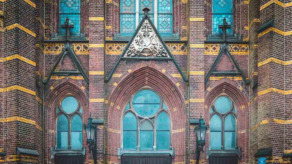 Old Church facade in Eindhoven
