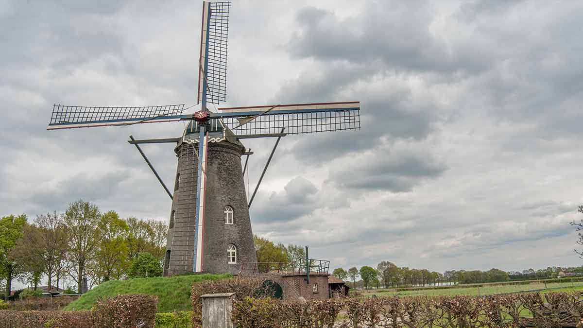 Old Windmill in Eindhoven, Netherlands