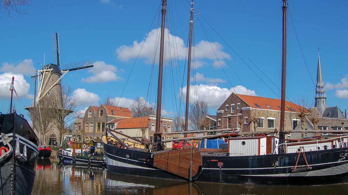 Windmill in Gouda, Netherlands