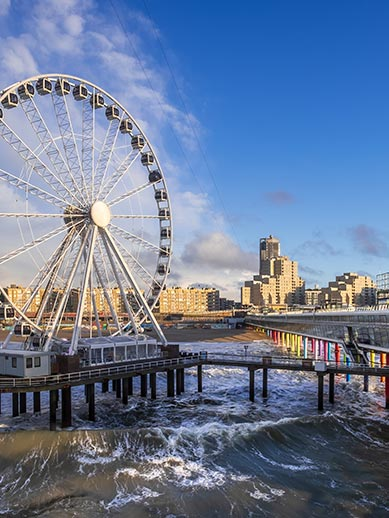 Scheveningen Pier Ferris Wheel Beach