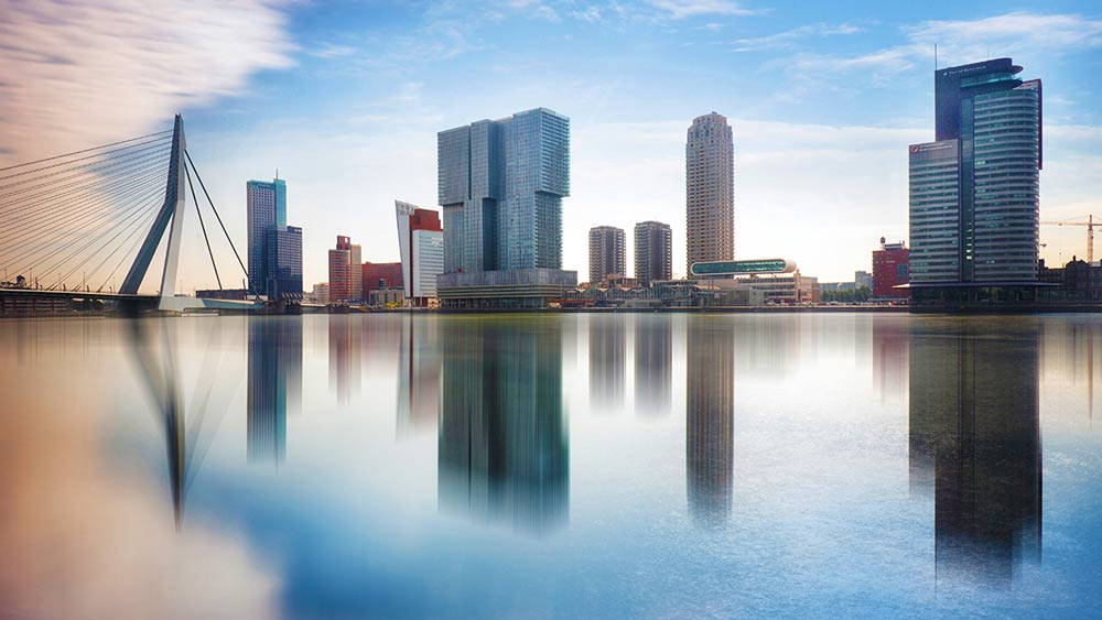 Rotterdam skyline in the Netherlands