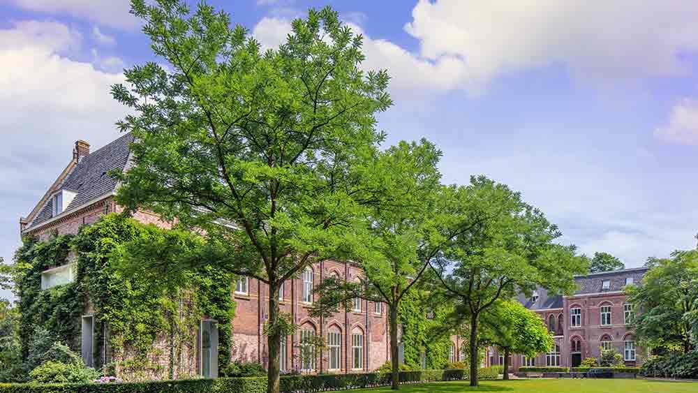 Brick monastery in Tilburg, Netherlands