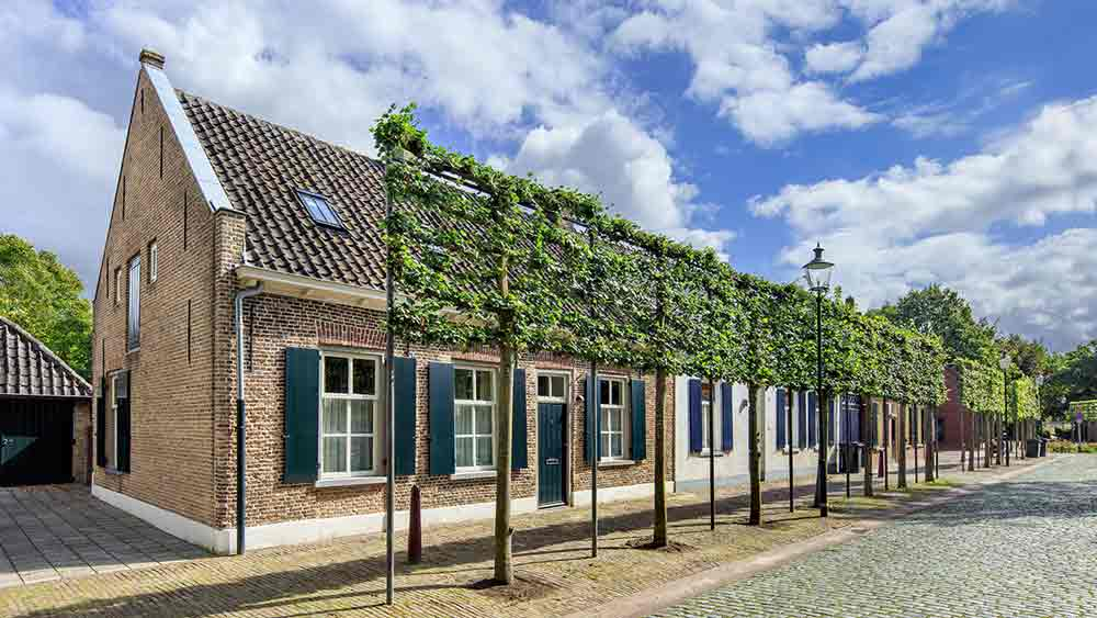 Old cottages in Tilburg, Holland
