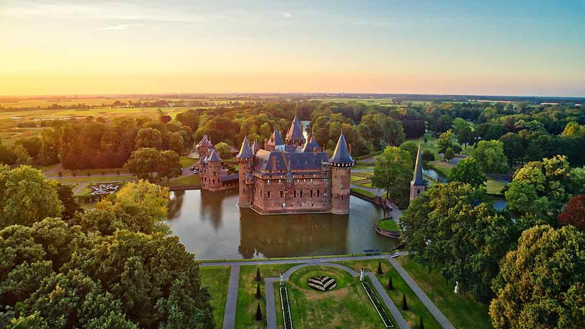 De Haar Castle in Utrecht, Netherlands
