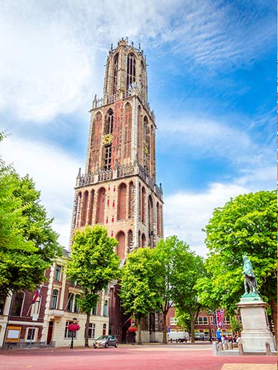 Gothic Dom Tower in Utrecht