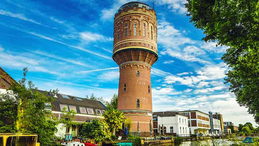 Old Water Tower in Utrecht, the Netherlands