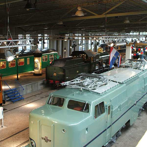 Railway Museum in Utrecht, Holland
