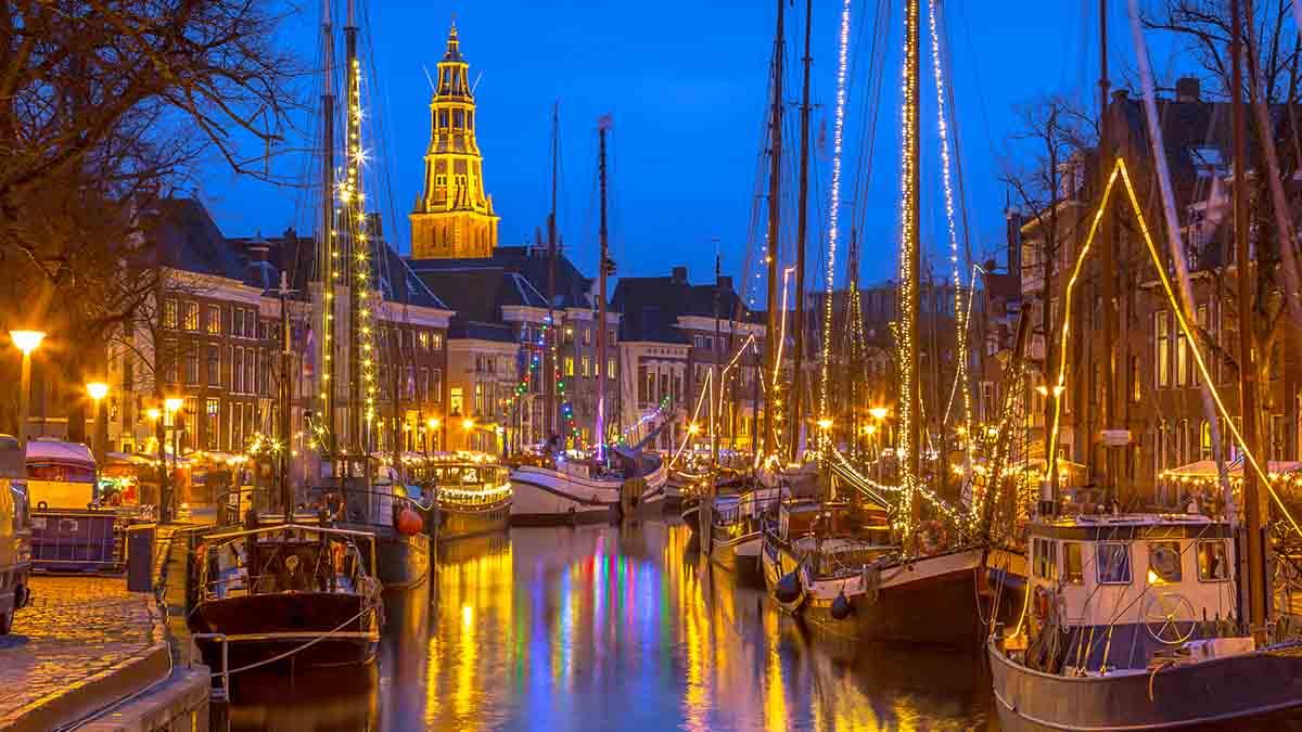 Winter Wel Vaart in Groningen