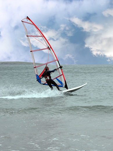 Wind surfing in County Kerry