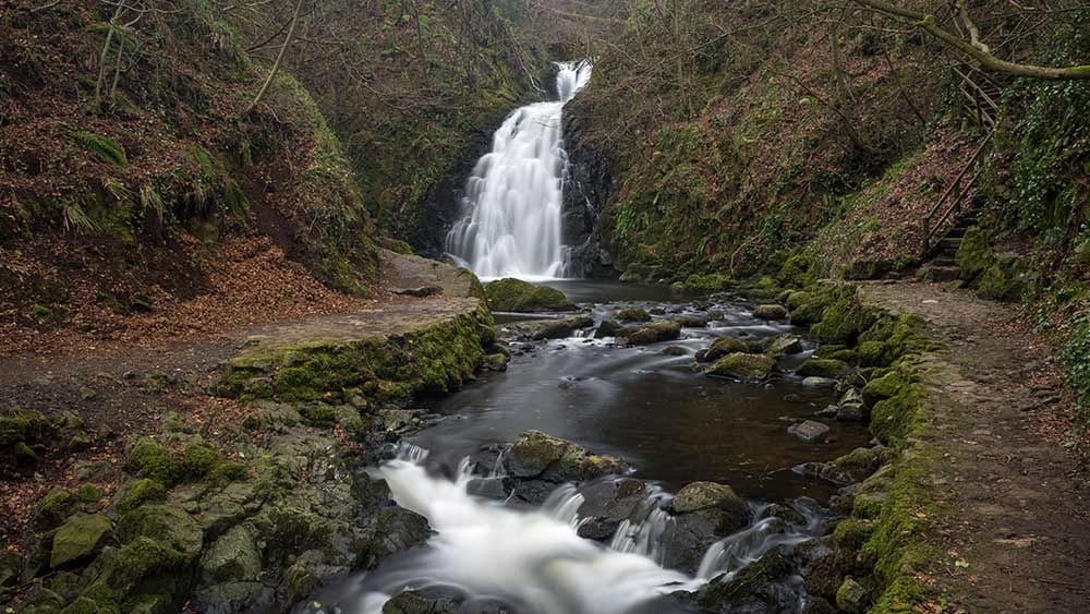 Glenoe Waterfall near Larne