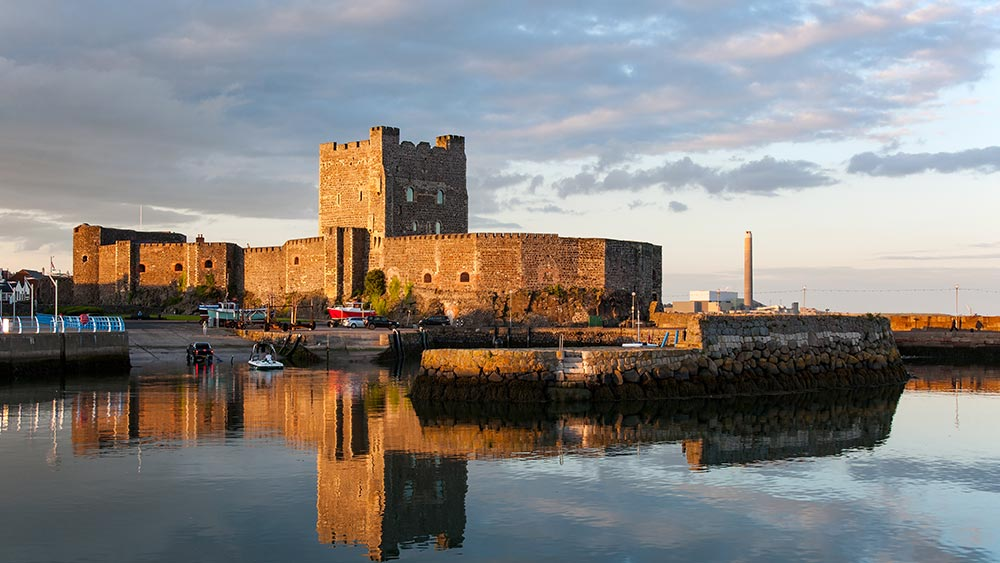Medieval Norman Castle in Carrickfergus