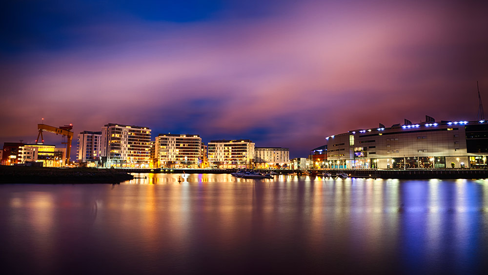 Belfast city at night