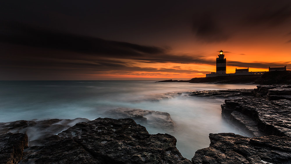 Hook head in County Wexford