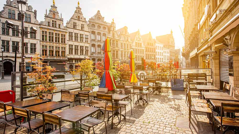 Dining at the Grote Markt, Antwerp