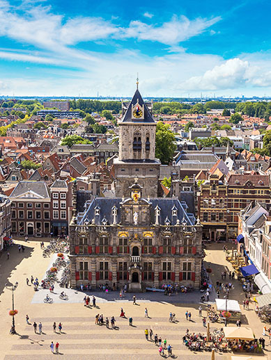 Visit Delft, Holland. Holland Motorist Mini Cruise P&O Ferries
