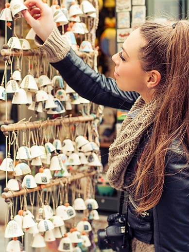 Shopping for gifts during your Ostend Mini Cruise with P&O Ferries.