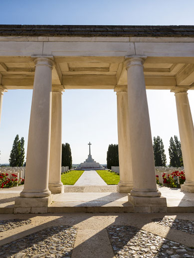 Tyne cot cemetery in Flauders while travelling on our Ypres Mini Cruise at P&O Ferries.