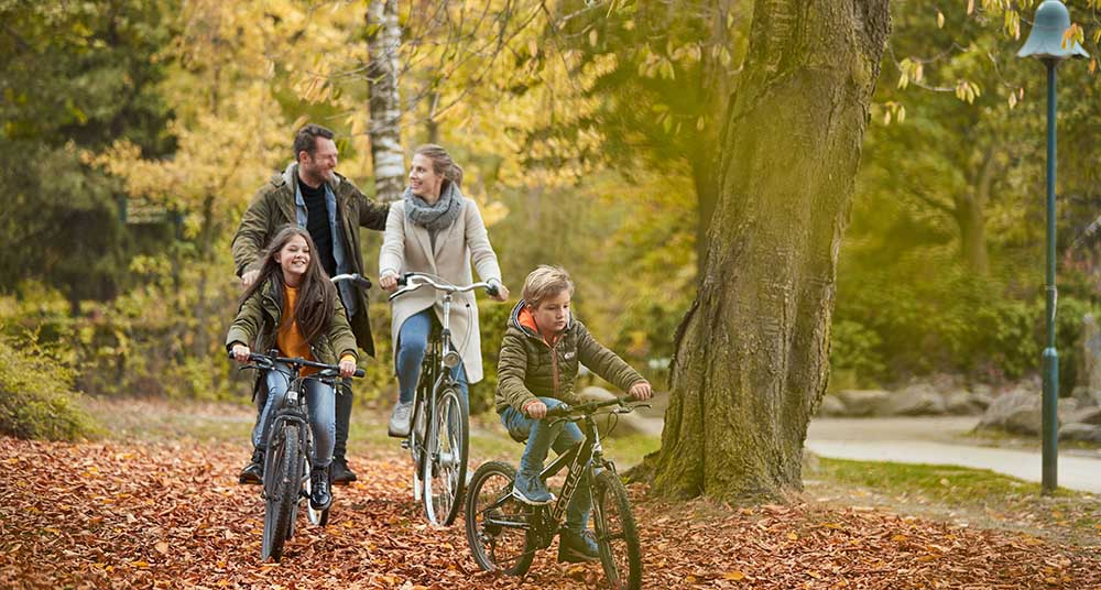Family at Center Parcs for Autumn Deal