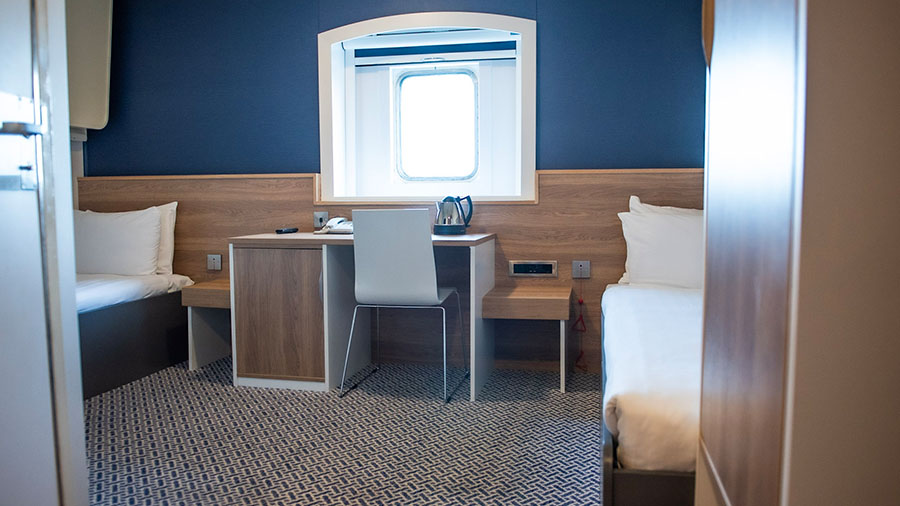 Accessible cabin P&O Hull to Rotterdam ferries