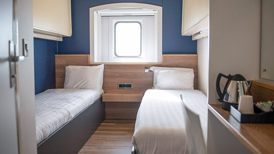 Premier cabin P&O Hull to Rotterdam ferries