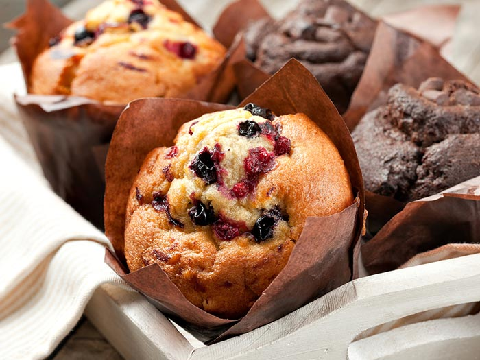 Muffins provenant de notre Starbucks à bord
