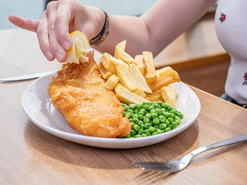 Fish and Chips in P&O Ferries Food Court