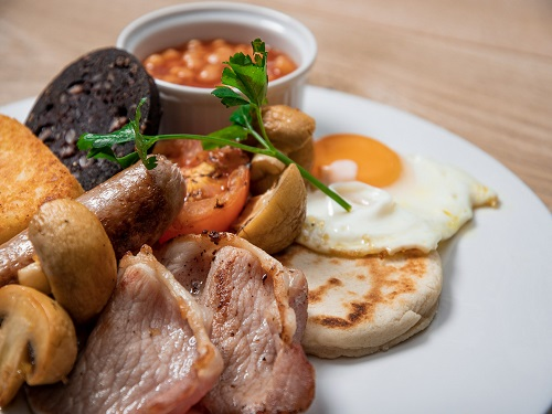 Ulster fry breakfast served in the P&O Ferries Food Court on the Cairnryan to Larne route