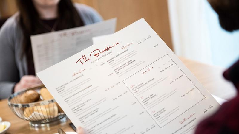 Brasserie – Paar studiert die Karte