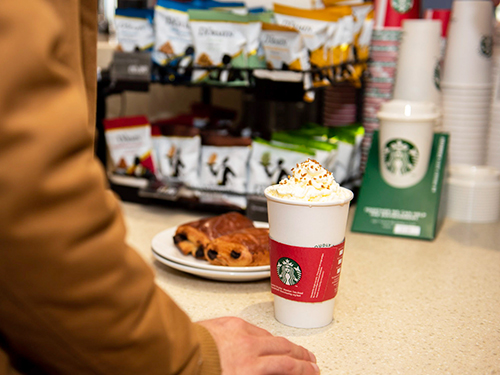 Starbucks coffee available on board