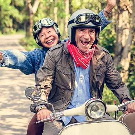 Reizen met een motorfiets