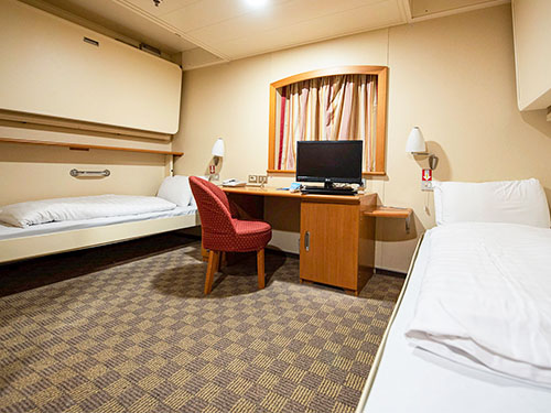 Accessible cabin on P&O Ferries North Sea ships