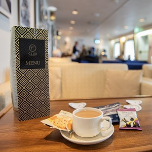 Club Lounge on a P&O ferry to Scotland