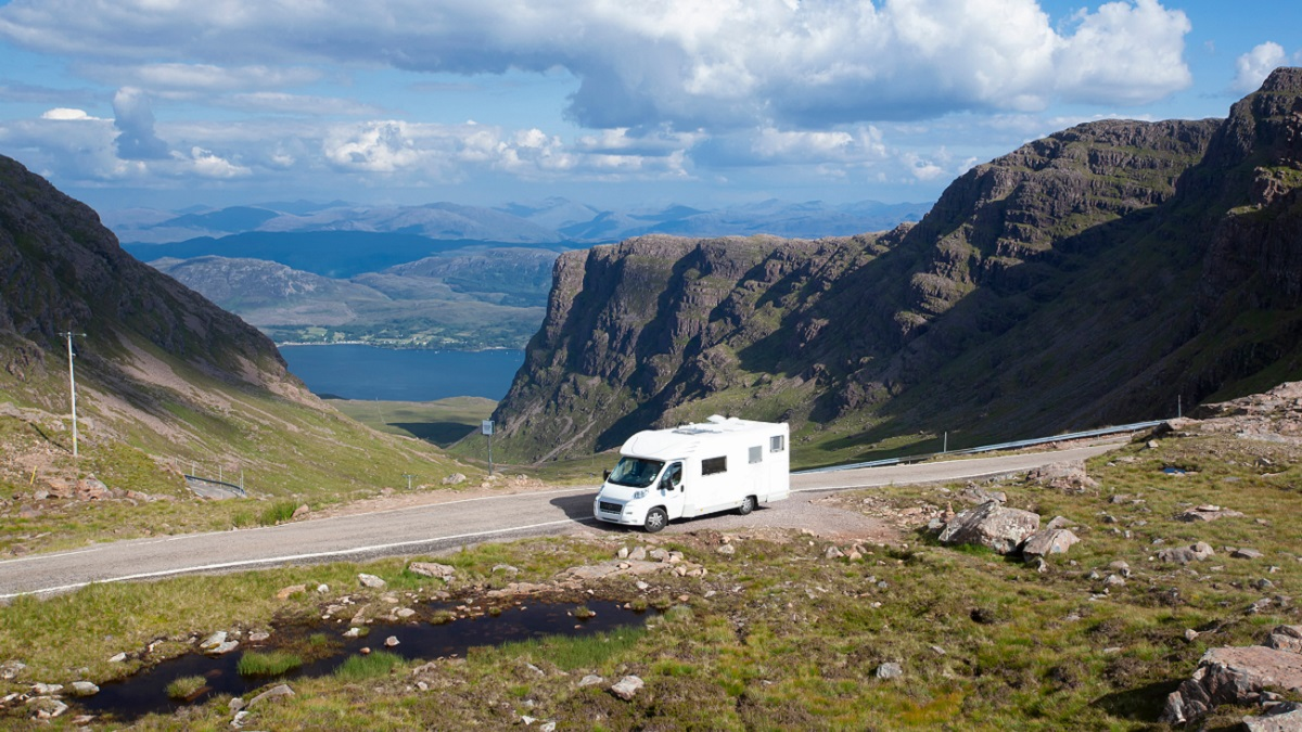 Take a ferry to Scotland with a caravan or motorhome