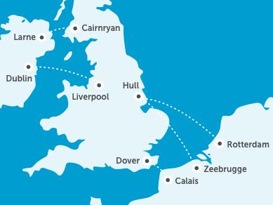 Veerboten van Dublin naar Liverpool