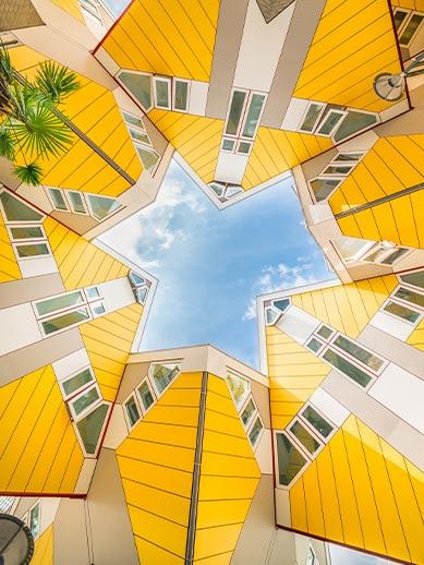 Hull-Rotterdam visit Rotterdam cube houses