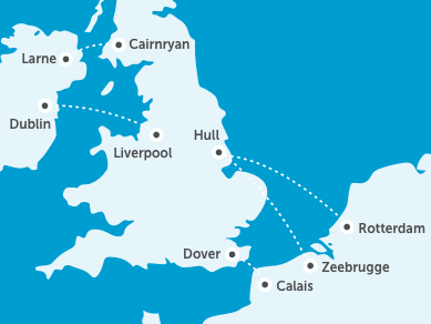 Veerboot naar Schotland