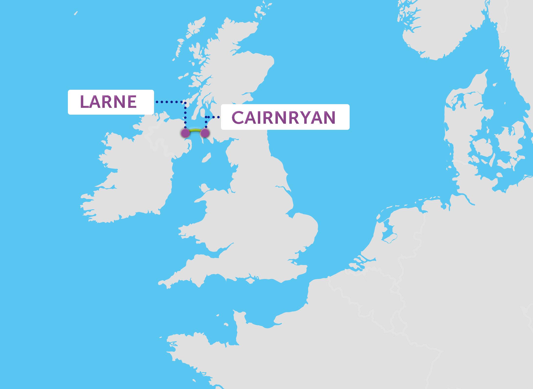 Ferry de Larne à Cairnryan