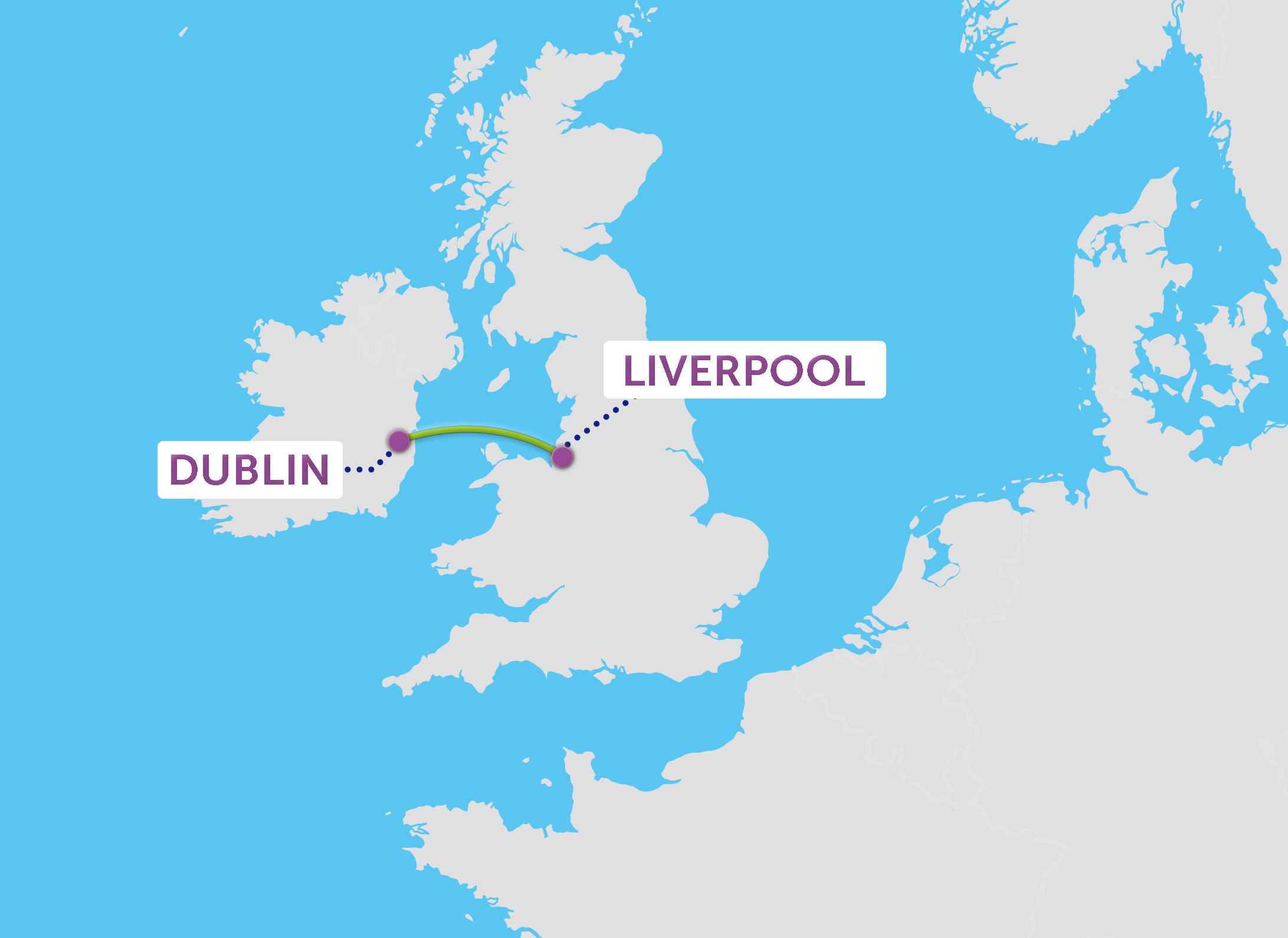 Dublin nach Liverpool
